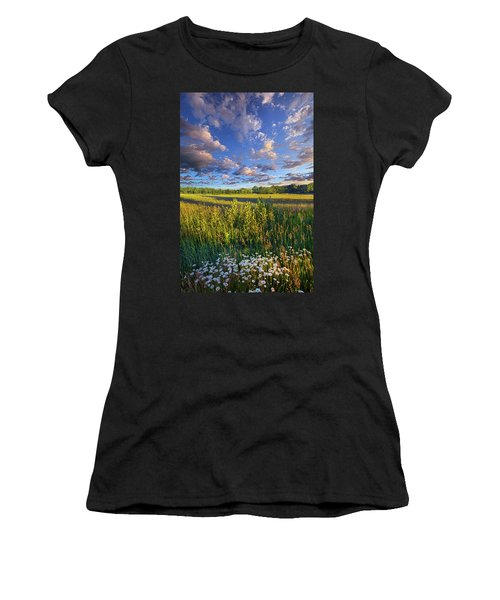 The World Is Quiet Here Women's T-Shirt (Junior Cut) by Phil Koch