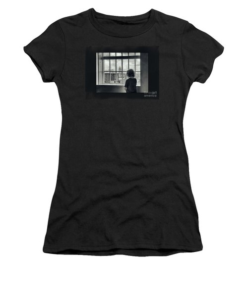 The World Outside My Window Number II  Women's T-Shirt (Athletic Fit)
