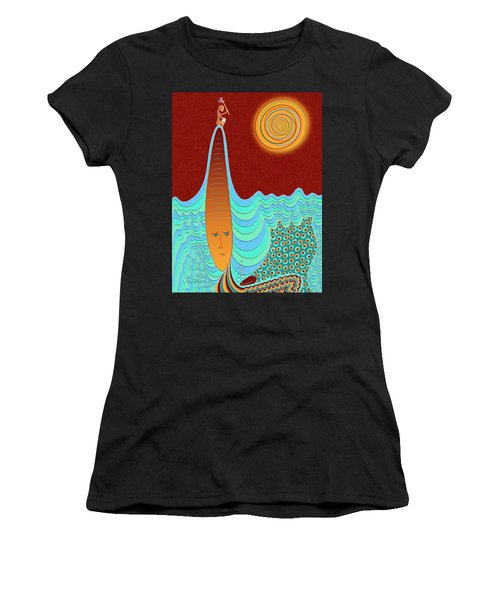 The Young Man And The Sea Women's T-Shirt (Athletic Fit)