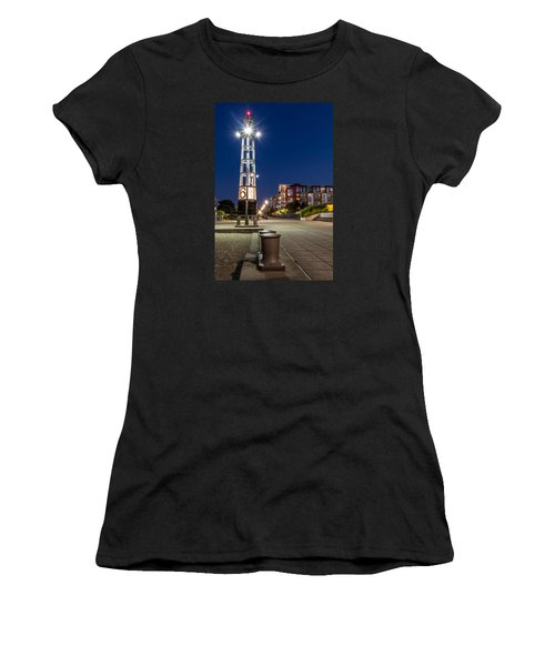 Thea's Landing Boardway During Blue Hour Women's T-Shirt (Athletic Fit)