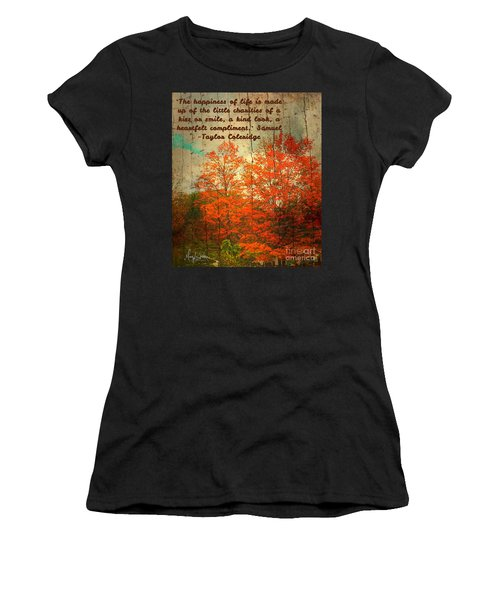 The Happiness Of Life By Taylor Coleridge Women's T-Shirt (Athletic Fit)