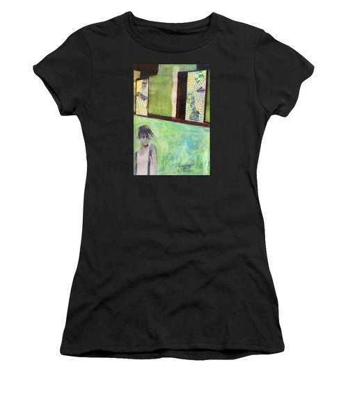 Women's T-Shirt (Athletic Fit) featuring the painting They Say by Geraldine Gracia