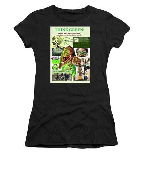 Think Green Women's T-Shirt (Athletic Fit)