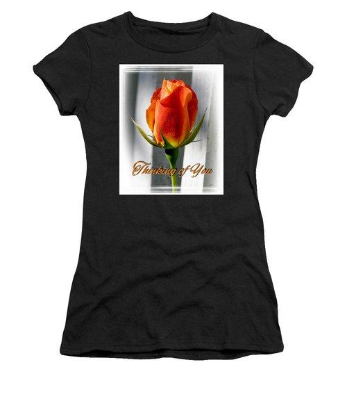 Thinking Of You, Rose Women's T-Shirt