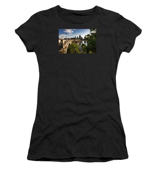 Women's T-Shirt featuring the photograph Third Avenue Bridge by Mike Evangelist