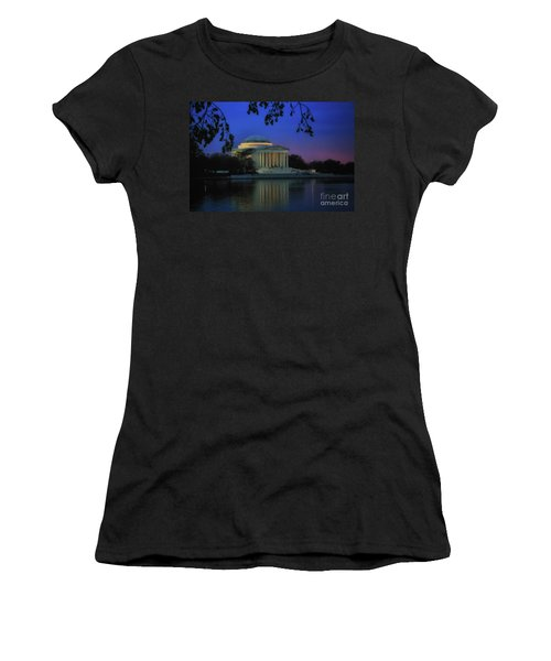 Thomas Jefferson Memorial Sunset Women's T-Shirt (Athletic Fit)