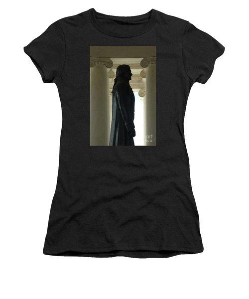 Thomas Jefferson Statue Women's T-Shirt (Athletic Fit)