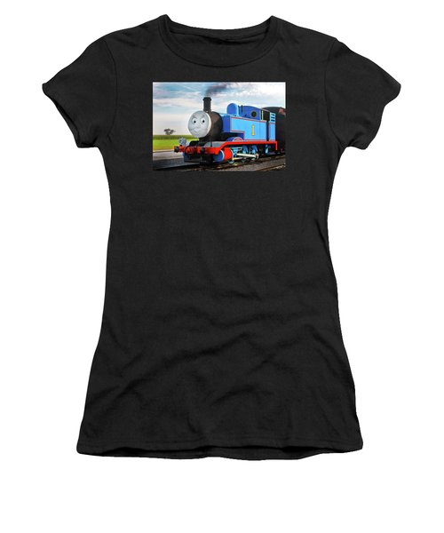 Thomas The Train Women's T-Shirt (Junior Cut) by Paul W Faust -  Impressions of Light