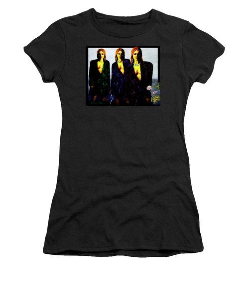 Three  Beautiful Triplet Ladies Women's T-Shirt