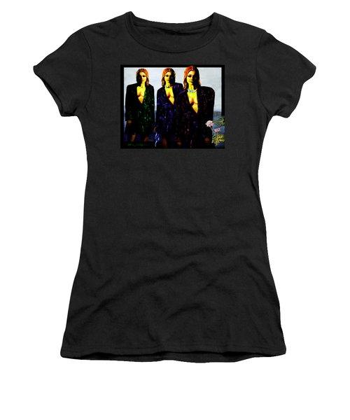 Three  Beautiful Triplet Ladies Women's T-Shirt (Athletic Fit)