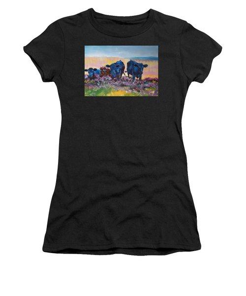 Three Black Cows On Dartmoor Women's T-Shirt