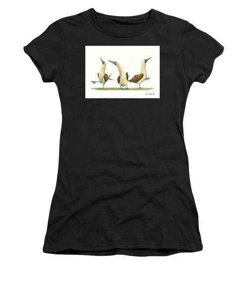 Three Blue Footed Boobies Women's T-Shirt (Athletic Fit)