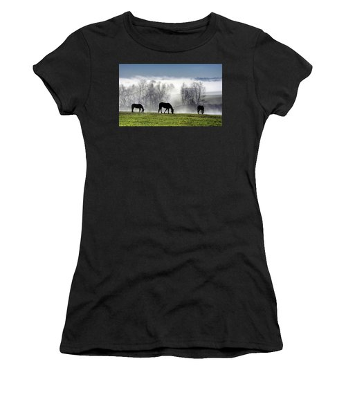 Three Horse Morning Women's T-Shirt