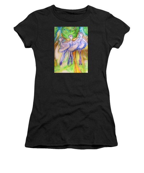 Three Magical Birds Women's T-Shirt (Athletic Fit)