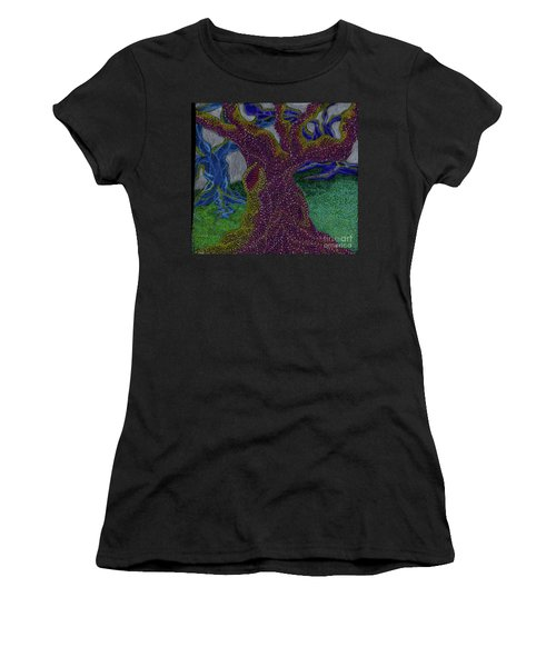 Women's T-Shirt (Junior Cut) featuring the drawing Three Trees by Kim Sy Ok