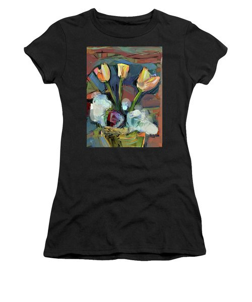 Three Tulips Women's T-Shirt (Athletic Fit)