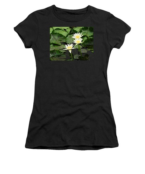 Three Water Lilies Women's T-Shirt (Athletic Fit)