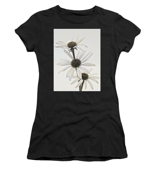 Three White Coneflowers Women's T-Shirt (Athletic Fit)