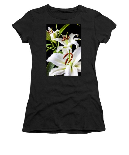Three White Lilies Women's T-Shirt (Athletic Fit)