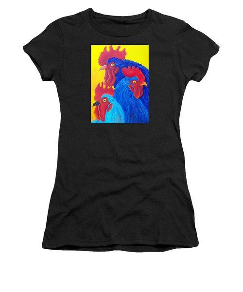 Three's A Crowd Women's T-Shirt (Athletic Fit)