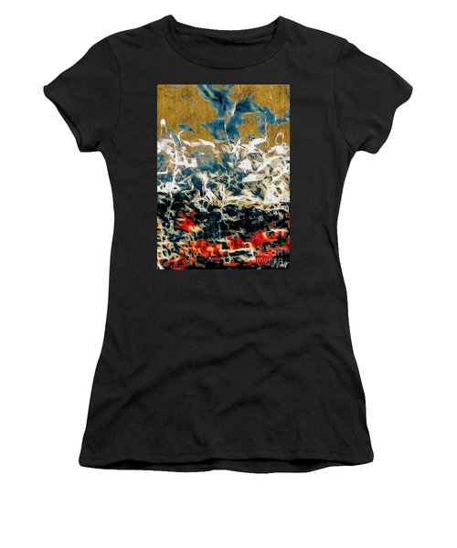 Women's T-Shirt (Junior Cut) featuring the photograph Through The Cracks by William Wyckoff