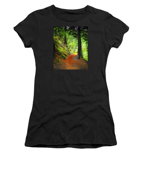 Through The Woods Women's T-Shirt (Athletic Fit)
