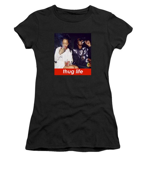 Thug Life Women's T-Shirt (Athletic Fit)