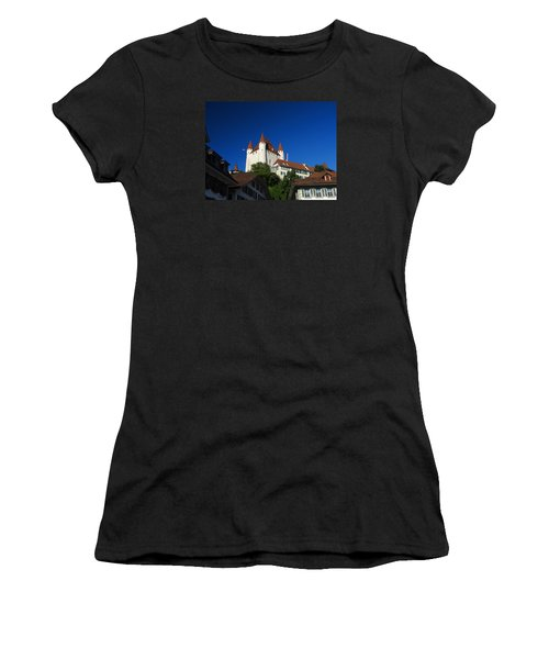 Thun Castle Women's T-Shirt (Junior Cut) by Ernst Dittmar