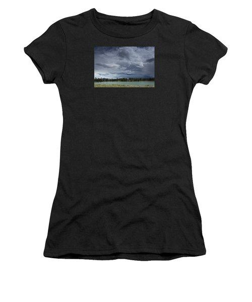 Thunderstorm Over Indian Pond Women's T-Shirt
