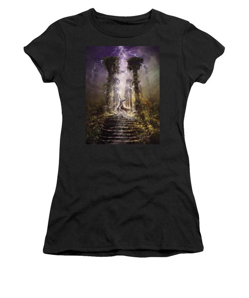 Thunderstorm Wizard Women's T-Shirt (Athletic Fit)