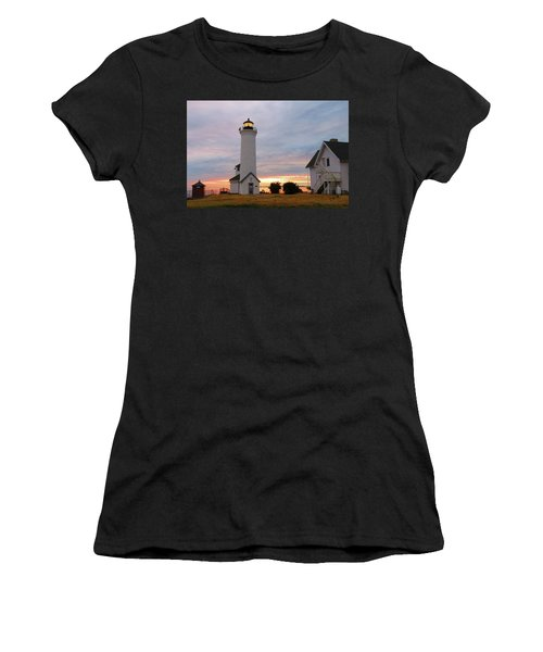 Tibbetts Point Lighthouse, July Sunset Women's T-Shirt