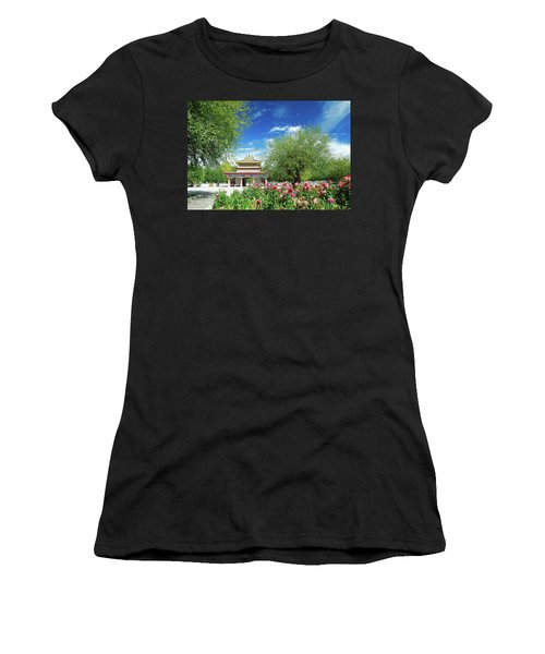 Tibet Scenery In Autumn Women's T-Shirt (Athletic Fit)