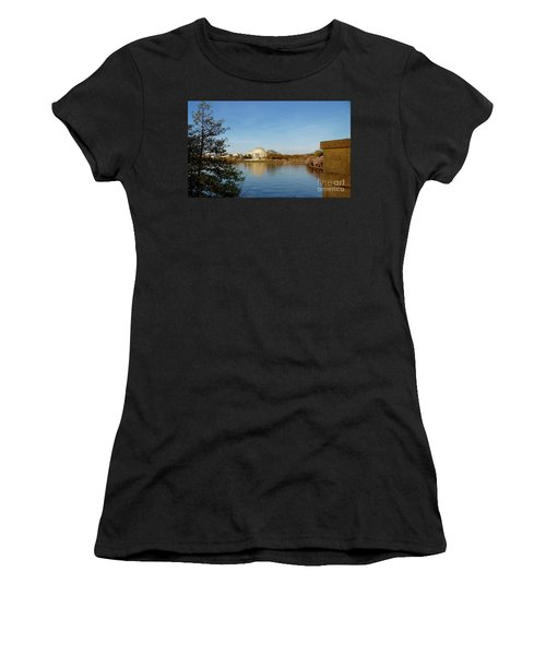 Tidal Basin And Jefferson Memorial Women's T-Shirt (Athletic Fit)
