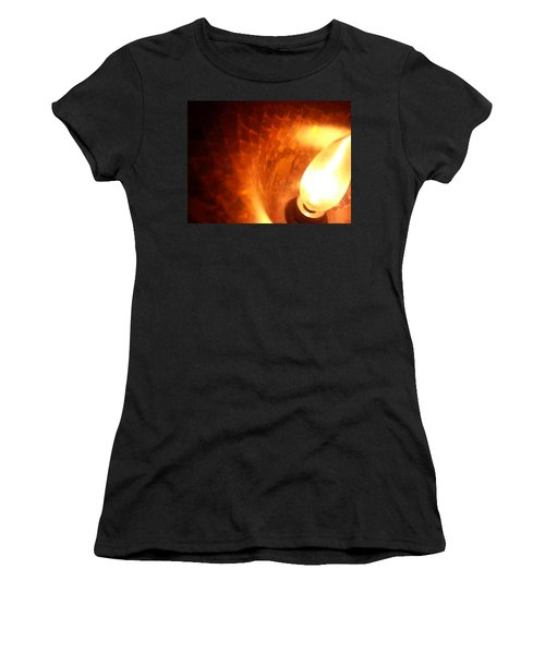 Women's T-Shirt featuring the photograph Tiffany Lamp Inside by Robert Knight