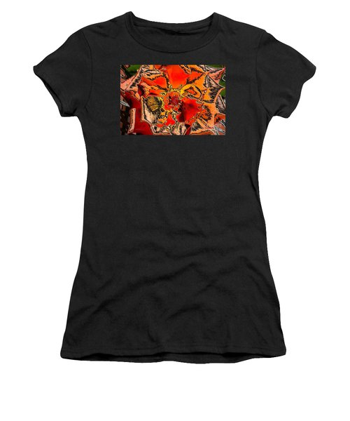 Tiger Rose Neon Women's T-Shirt