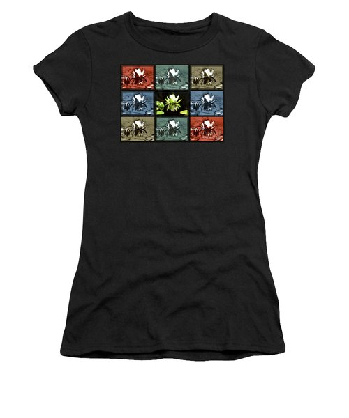 Tiled Water Lillies Women's T-Shirt (Athletic Fit)