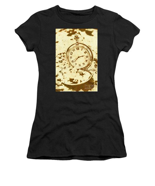 Time Worn Vintage Pocket Watch Women's T-Shirt