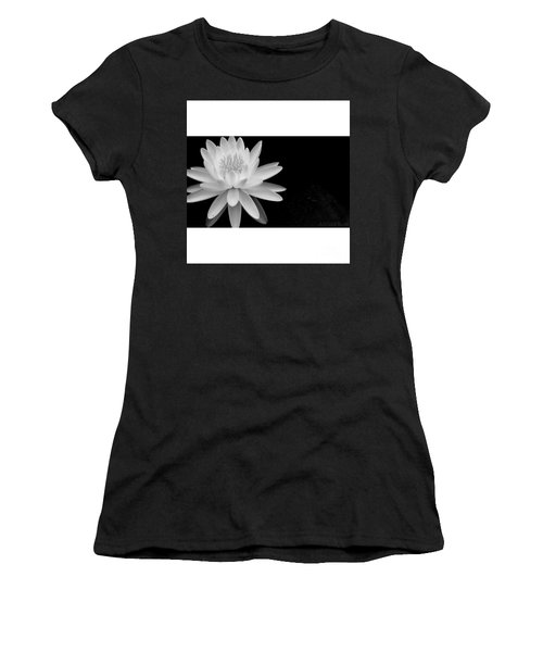 Black And White -timeless Lily Women's T-Shirt (Athletic Fit)