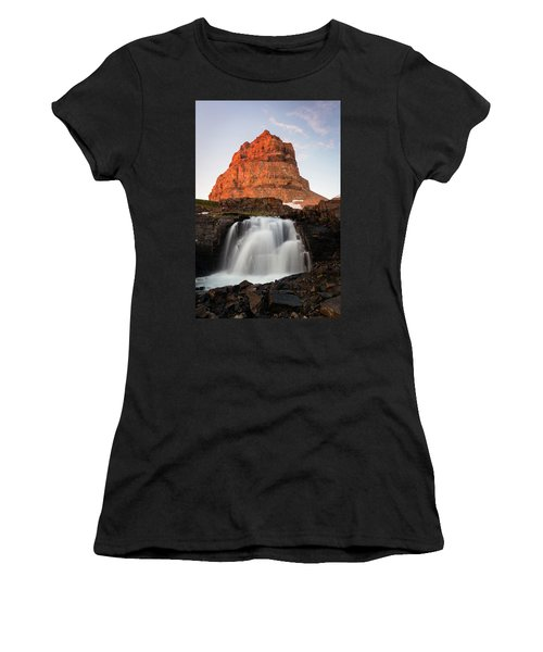 Timpanogos Waterfall Women's T-Shirt (Athletic Fit)