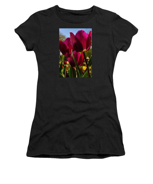 Tip Toe Through The Tulips Women's T-Shirt (Athletic Fit)