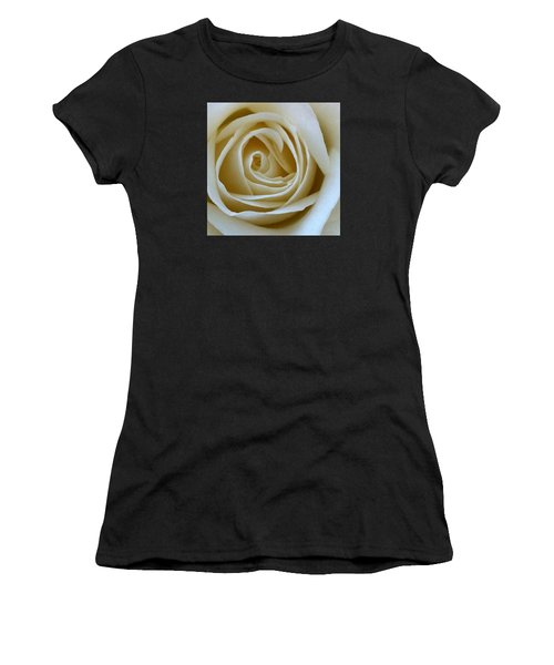 Women's T-Shirt featuring the photograph To The Heart Of The Rose by Julian Perry