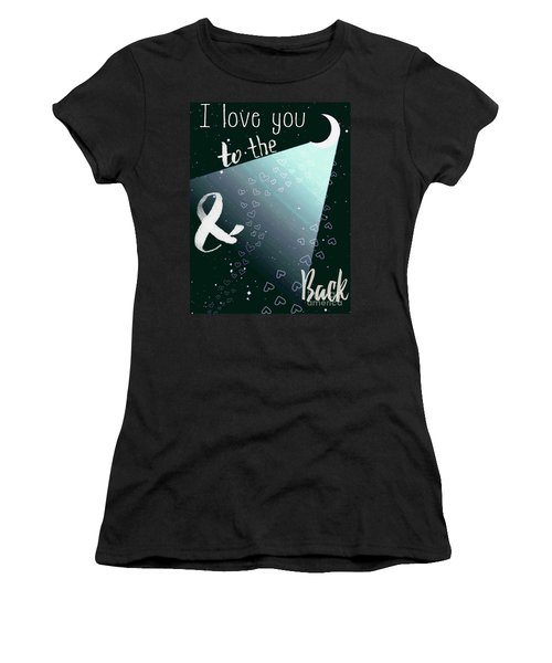 Women's T-Shirt (Junior Cut) featuring the digital art To The Moon And Back by D Renee Wilson