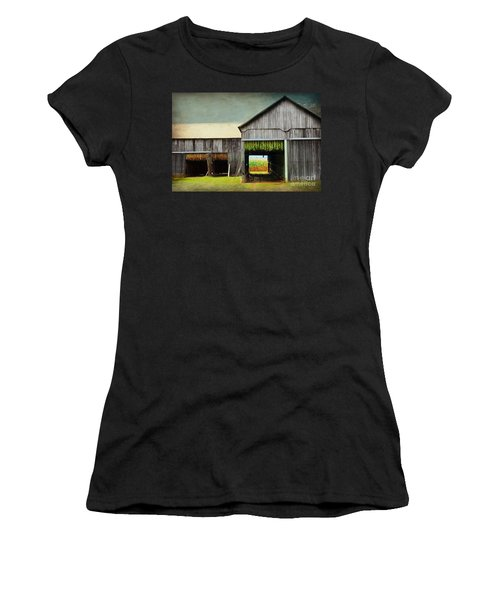 Tobacco Drying Women's T-Shirt (Athletic Fit)