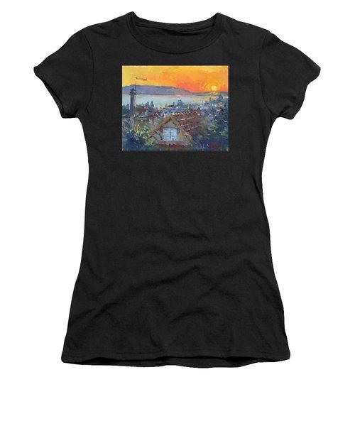 Today Sunrise Over Dilesi Greece Women's T-Shirt