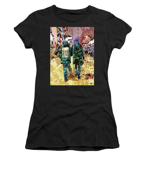 Women's T-Shirt (Junior Cut) featuring the painting Together by Tony Rubino