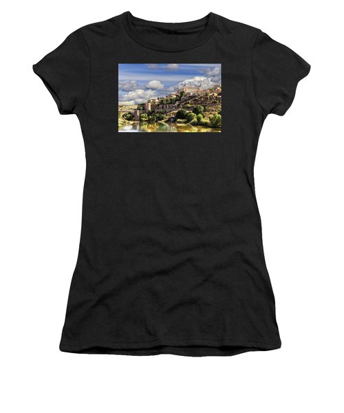 Toledo. Majestic Stone Fortress The Alcazar Is Visible From Any Part Of The City Women's T-Shirt (Athletic Fit)