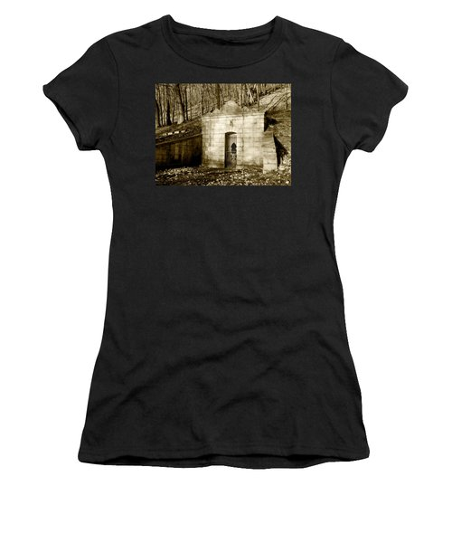 Tomb With A View In Sepia Women's T-Shirt