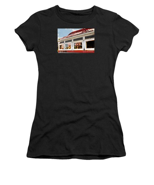 Tom's Diner Ghost Women's T-Shirt (Athletic Fit)