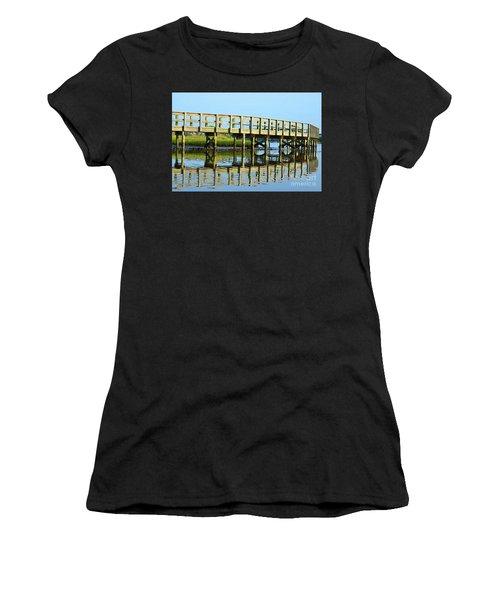 Topsail Island Walk Women's T-Shirt (Junior Cut) by Eva Kaufman