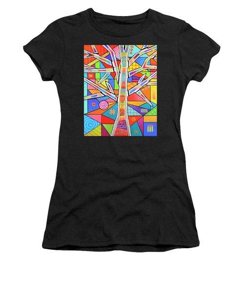 Totem Tree Women's T-Shirt (Athletic Fit)